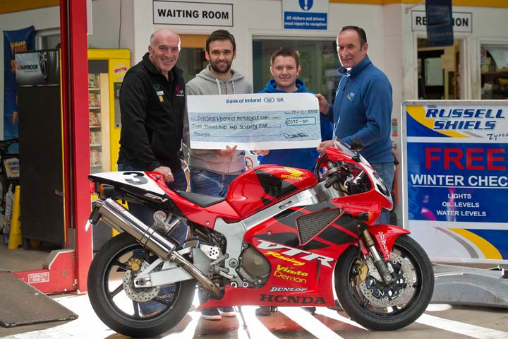 Russell Shiels Tyres raises more than £2,000 towards Dunlop legacy at Dundrod