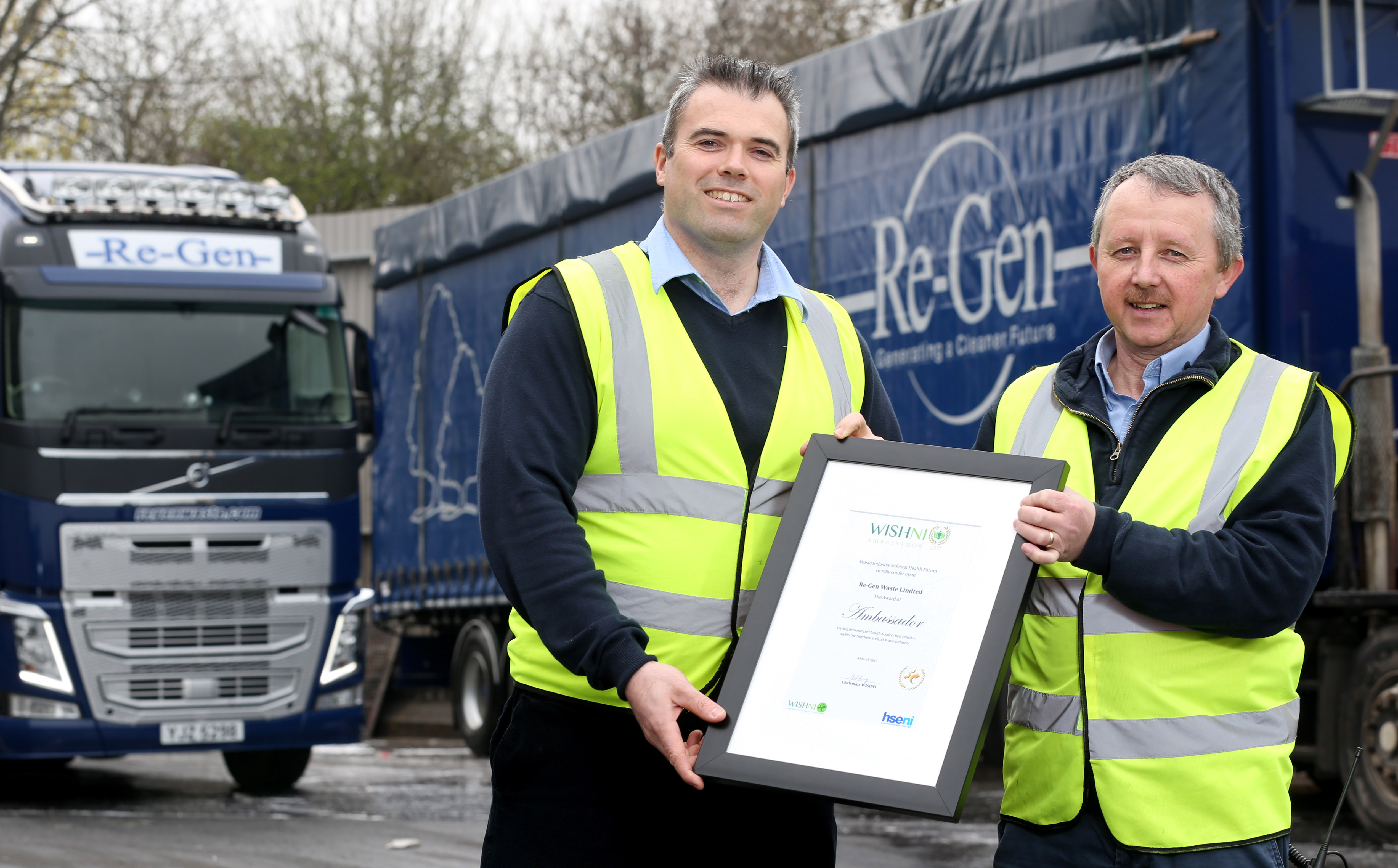Re-Gen Waste Ltd receives major Health and Safety Industry Award